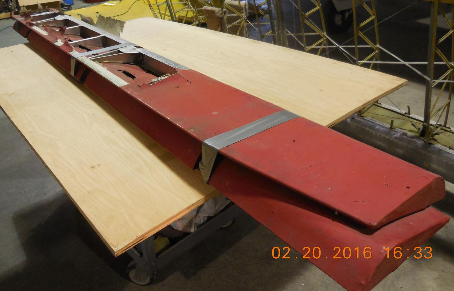 PIPER PA12 OR 18, L & R AILERON ASSEMBLY (NEEDS FABRIC ONLY)